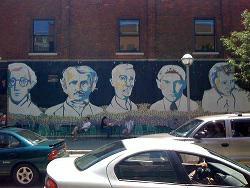 building, mural