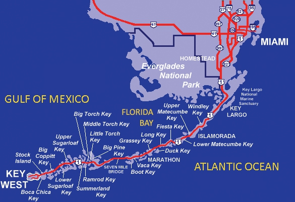 florida map with mile markers
