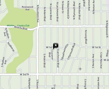 Location: Larchmont Blvd Parking Lot #694. City: Los Angeles
