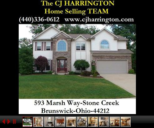 Cleveland Real Estate-593 Marsh Way(Brunswick, Ohio 44212)...Call (440)336-0612 or Visit WWW.CJHARRINGTON.COM