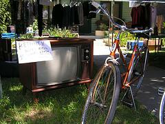 tv and bike