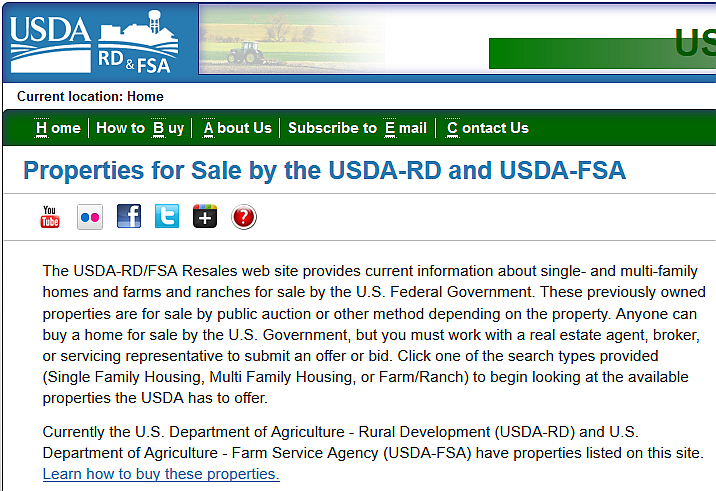 Foreclosures and Government Owned - USDA