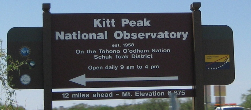 Kitt Peak Sign