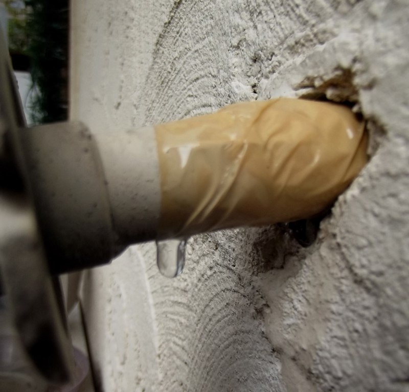 Interesting Outside Faucet Leaking Inside Wall Contemporary - Image ...