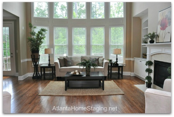 Stager in Atlanta Family Room