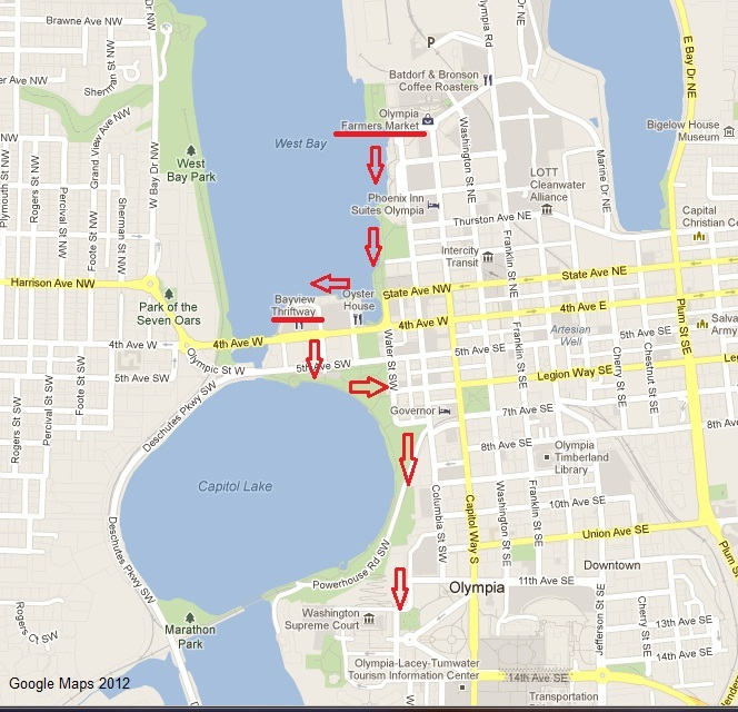 Percival Landing map