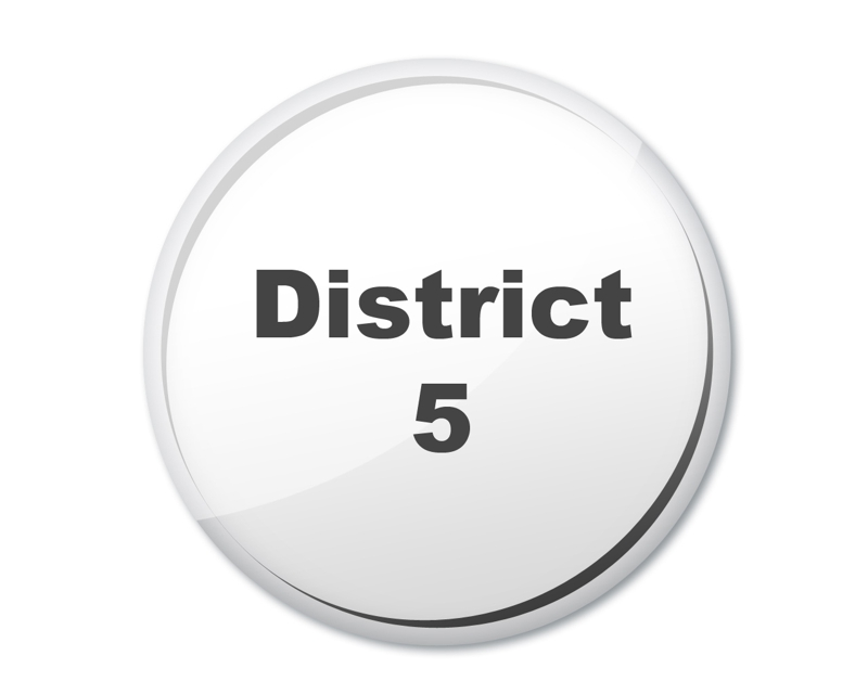 district 5 button