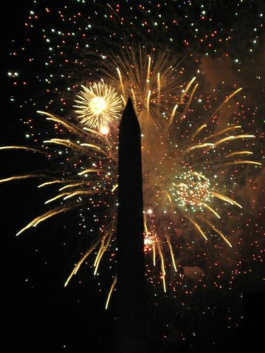 Fireworks at Washington Monument