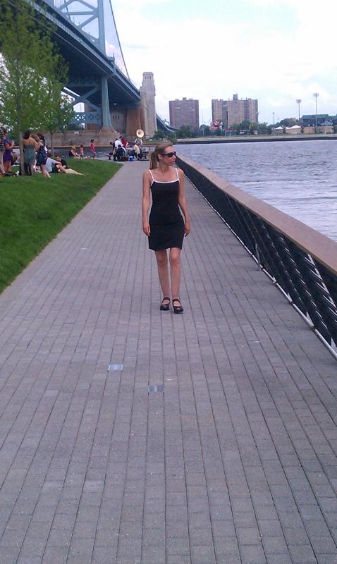 Race Street Pier - Stephanie Walking