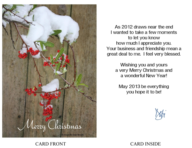 Holiday greeting a card of appreciation m4hsunfo