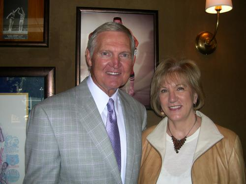 Jerry West and Rebecca Gaujot