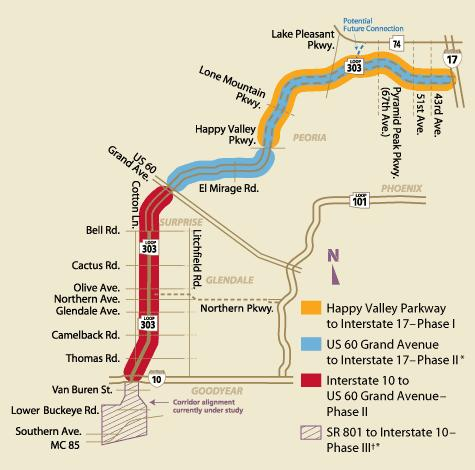 Map Of Loop 303 Arizona.Arizona Loop 303 What S Going On With Construction