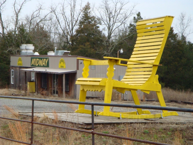 Yellow giant chair