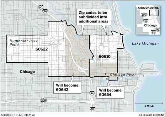 New Zip Code Changes in Wicker Park (60622) and Loop (60610) Chicago ...