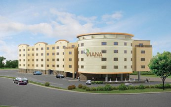 full view of Viana Hotel and spa in Westbury ny
