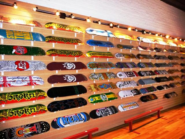 Wall of Skateboards