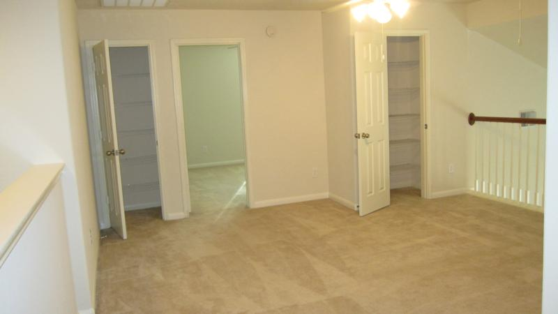 Gameroom with 2 closets
