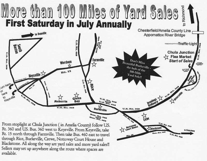 100 Miles of Yard Sales