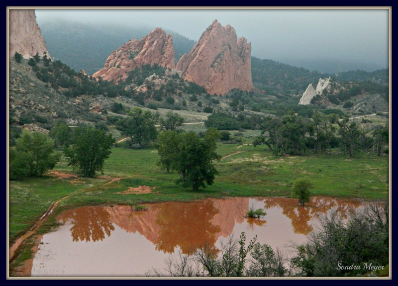 Have you seen the lake at Garden of the Gods in Colorado Springs?