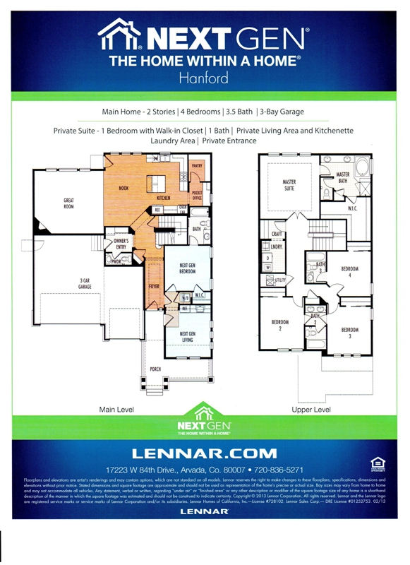Lennar Nextgen Homes Floor Plans