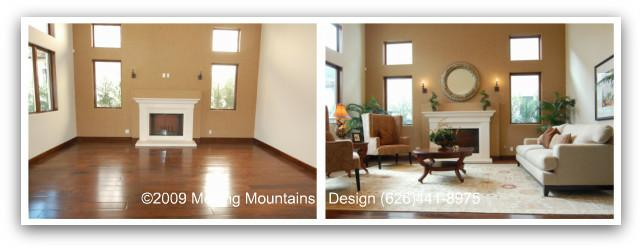 Before And After Photos Of A Home Staged By Moving Mountains Design