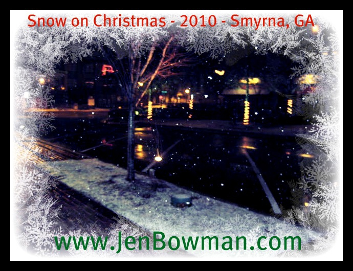Snow in Smyrna Vinings on Christmas