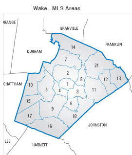 Areas in Wake County MLS