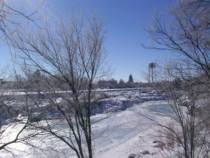 Idaho Falls Idaho Frozen falls