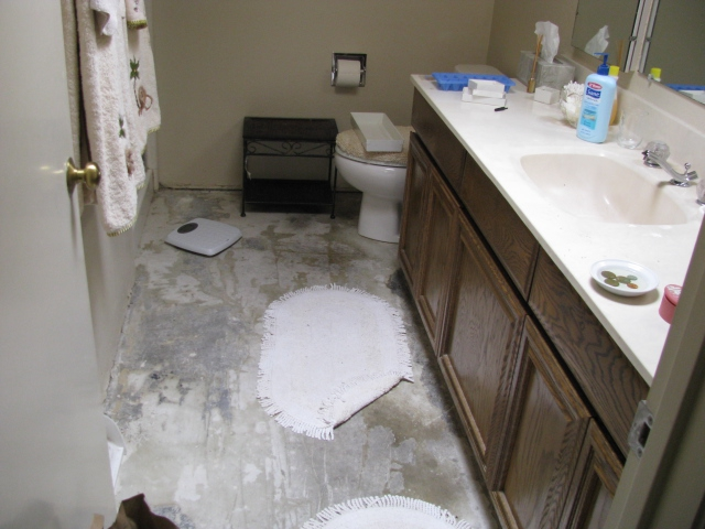 Mountain View master bathroom before the 203k