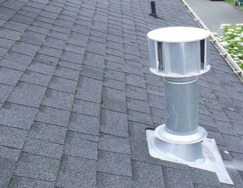 Typical gas vent on a roof