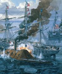 Battle of Mobile Bay by Tom Freeman