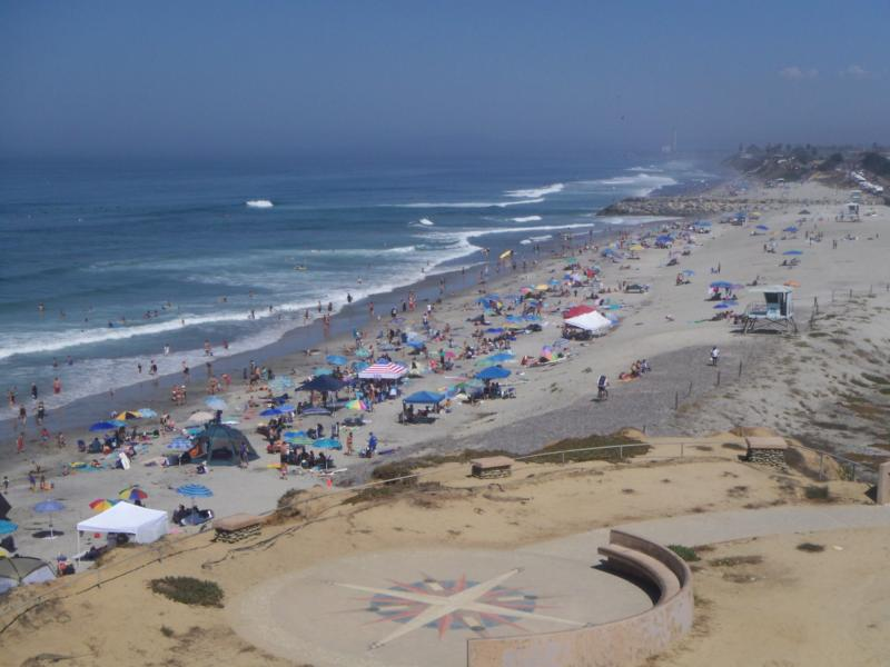 South Carlsbad State Beach seen from the bluffs