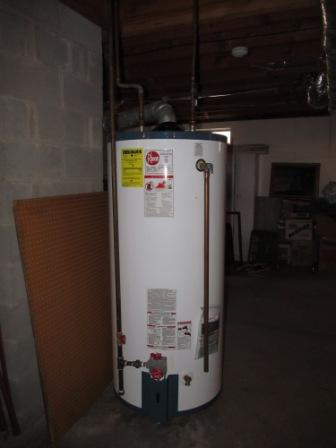 Water heater in a Connecticut house