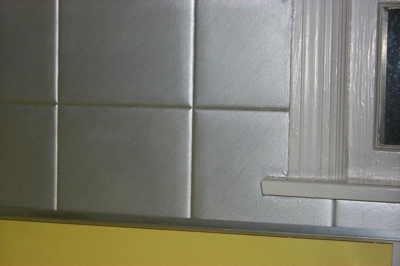Is faux the new f word paintmywalls 39 s blog - Silver metallic wall paint ...