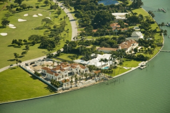 Indian Creek Island in Miami Beach - Luxury Biscayne Bay front homes and mansions