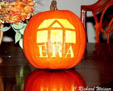 Pumpkin with logo