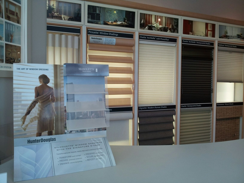 sample of shades at Blinds & Designs, SF