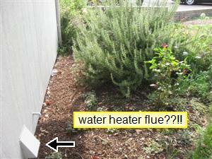 Dryer hood not gas appliance flue