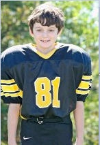 Andrew with football picture