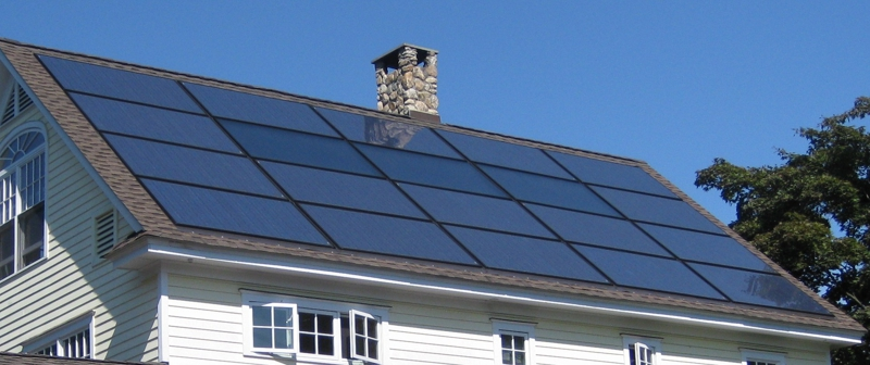 Integrated Solar Panels and Roof, Westport, Ct.
