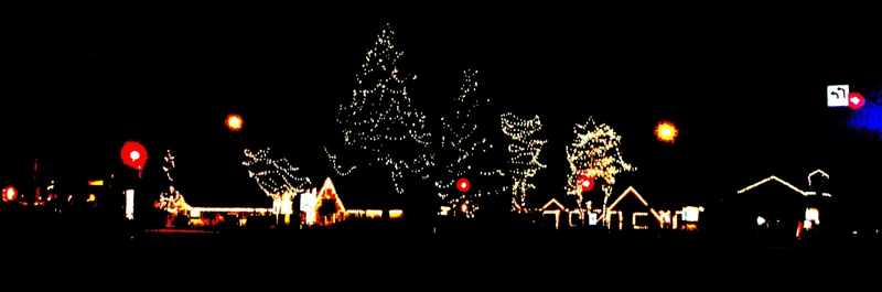 Holiday Lights in Tahoe City, California  www.TahoeLauraLuxuryHomes.com