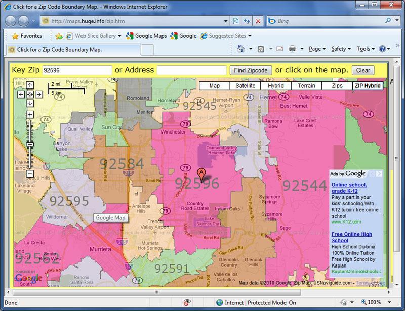 Murrieta Zip Code Map Zip Code Map