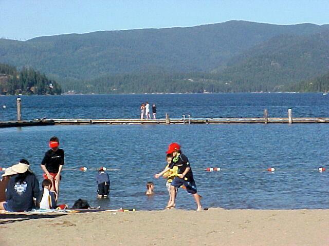 Honesuckle Beach and Boat Launch - Hayden Lake Idaho