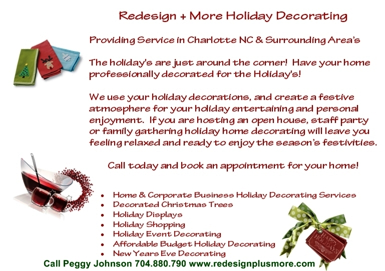 Charlotte NC - Holiday Home Decorating Services