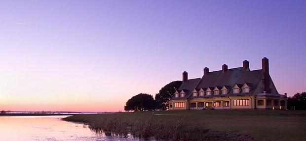 Whalehead Club at Sunset