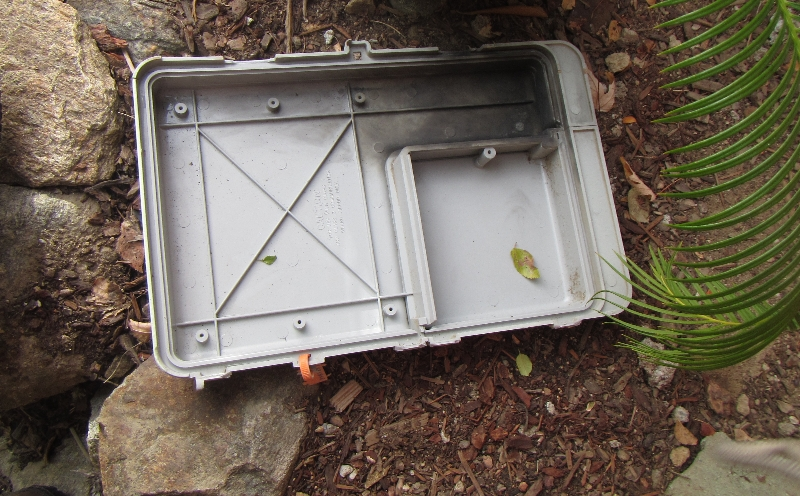 Cover blown off from power surge Chelan Home Inspection