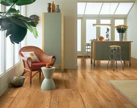 refinish and change color of hardwood floors - red oak natural