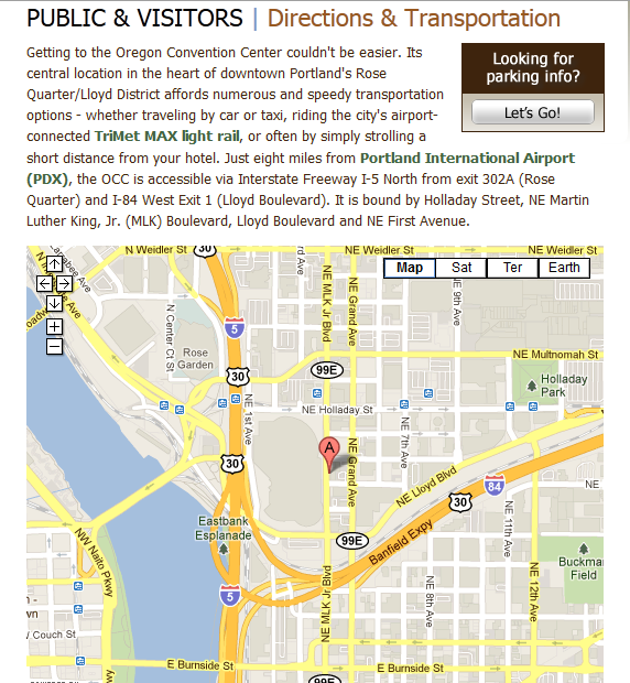Oregon Convention Center Map and Directions