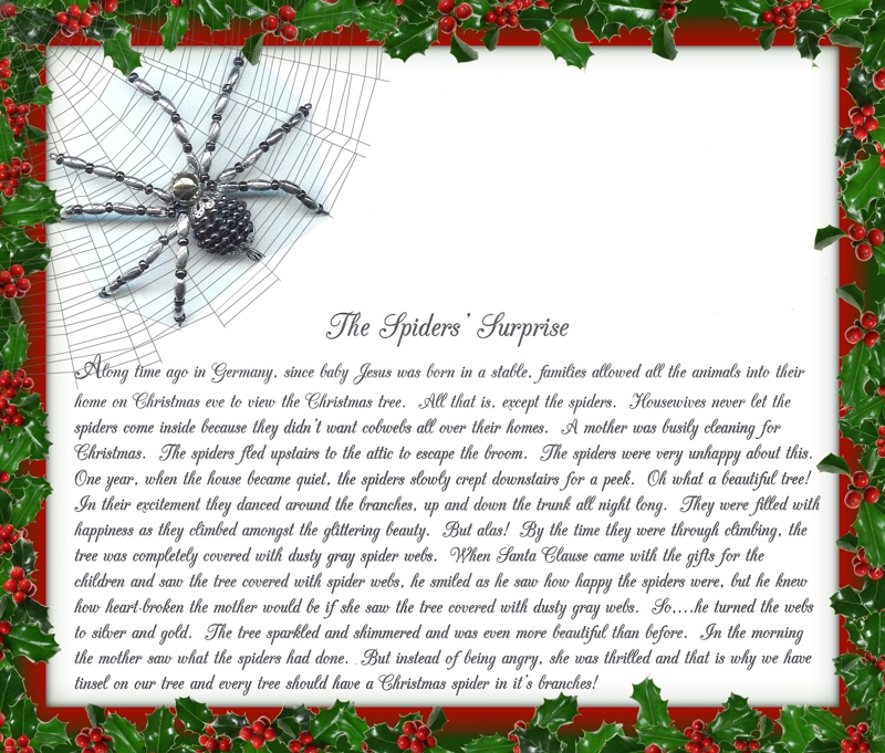 december 3 the christmas spider christmas traditions from my family to yours in jefferson county wi - The Christmas Spider