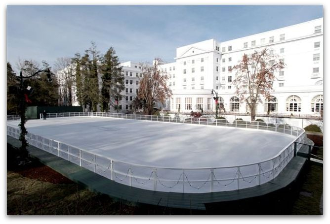 The Greenbrier's Ice Skating Rink